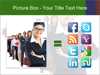 Business woman team PowerPoint Template - Slide 21