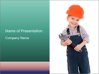 Little builder PowerPoint Template