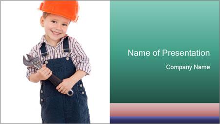 Little builder PowerPoint Template