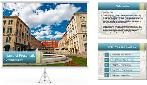 The Fountain PowerPoint Template