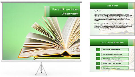 An open book PowerPoint Template