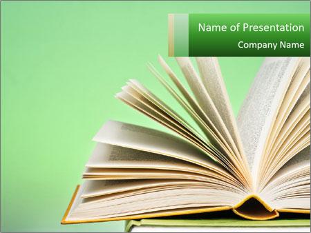 An open book PowerPoint Templates