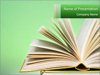 An open book PowerPoint Template