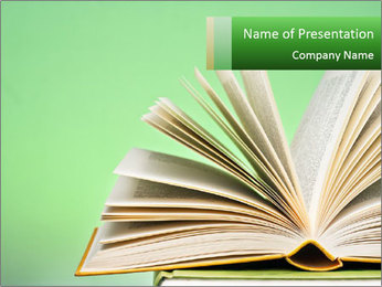 An open book PowerPoint Template - Slide 1
