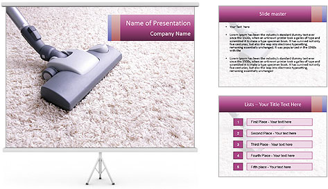 Cleaning the house PowerPoint Template