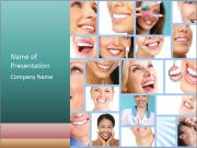 Dental collage. PowerPoint Template