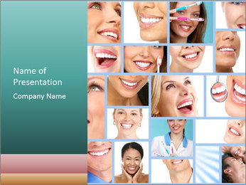 Dental collage. PowerPoint Template - Slide 1