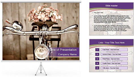 Old bicycle PowerPoint Template