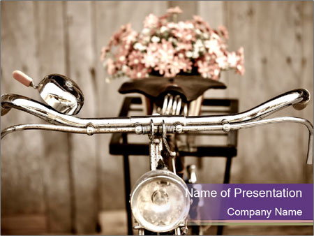 Old bicycle PowerPoint Templates