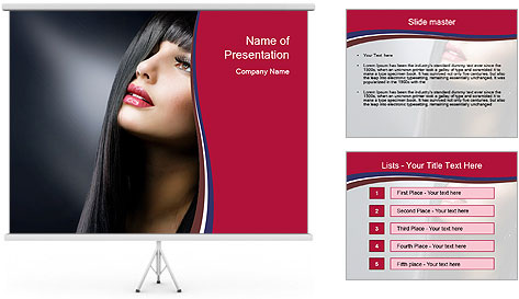 Fashion Brunette PowerPoint Template