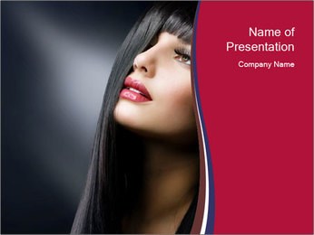 Fashion Brunette PowerPoint Template - Slide 1