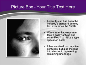Closeup of girl crying PowerPoint Templates - Slide 13