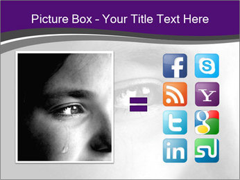 Closeup of girl crying PowerPoint Templates - Slide 21