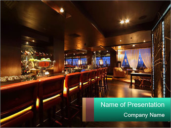 Bar counter PowerPoint Template