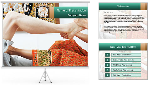 Traditional thai massage PowerPoint Template