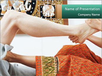 Traditional thai massage PowerPoint Template - Slide 1