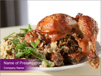 Healthy dish PowerPoint Template - Slide 1