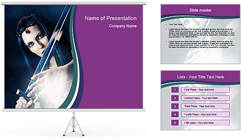 Brunette woman PowerPoint Template