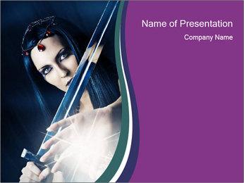 Brunette woman PowerPoint Template - Slide 1