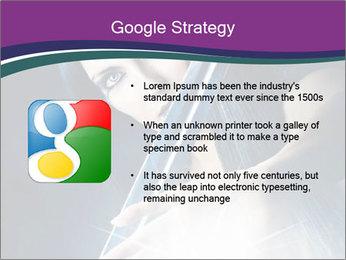 Brunette woman PowerPoint Template - Slide 10