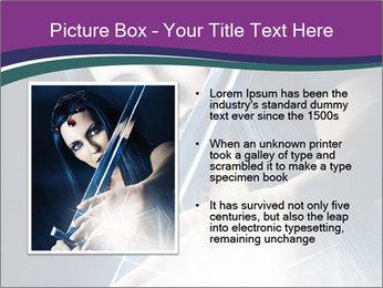 Brunette woman PowerPoint Template - Slide 13