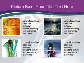 Brunette woman PowerPoint Template - Slide 14
