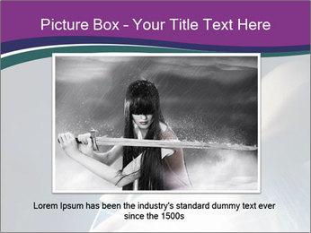 Brunette woman PowerPoint Template - Slide 15