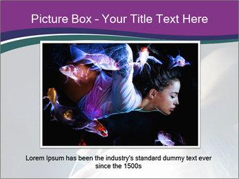 Brunette woman PowerPoint Template - Slide 16