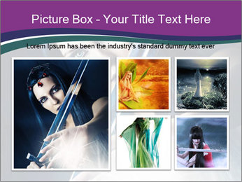Brunette woman PowerPoint Template - Slide 19