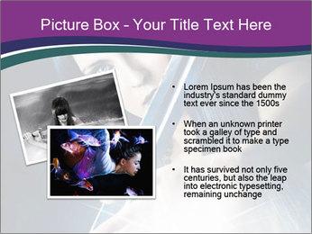 Brunette woman PowerPoint Template - Slide 20