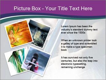 Brunette woman PowerPoint Template - Slide 23