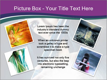 Brunette woman PowerPoint Template - Slide 24