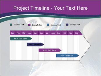 Brunette woman PowerPoint Template - Slide 25