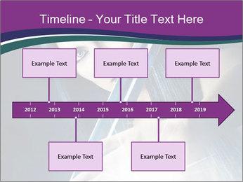 Brunette woman PowerPoint Template - Slide 28