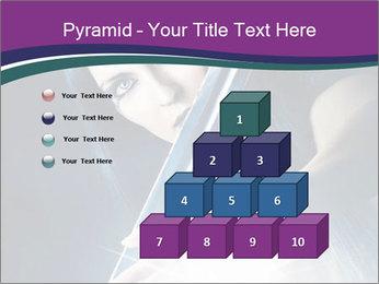 Brunette woman PowerPoint Template - Slide 31