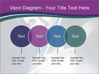 Brunette woman PowerPoint Template - Slide 32