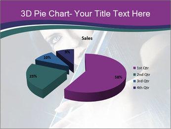 Brunette woman PowerPoint Template - Slide 35