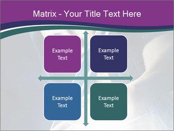 Brunette woman PowerPoint Template - Slide 37