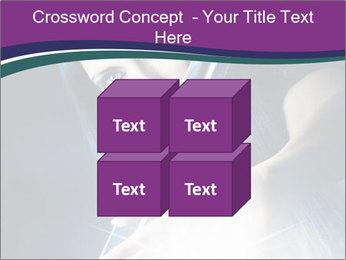 Brunette woman PowerPoint Template - Slide 39