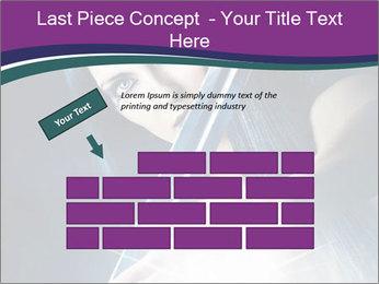 Brunette woman PowerPoint Template - Slide 46