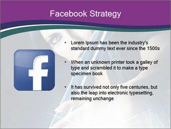 Brunette woman PowerPoint Template - Slide 6