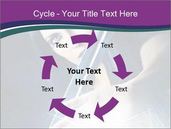 Brunette woman PowerPoint Template - Slide 62