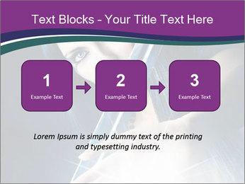 Brunette woman PowerPoint Template - Slide 71