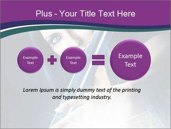 Brunette woman PowerPoint Template - Slide 75