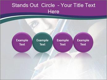 Brunette woman PowerPoint Template - Slide 76