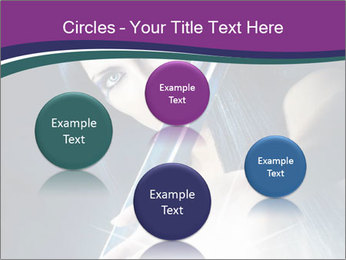 Brunette woman PowerPoint Template - Slide 77