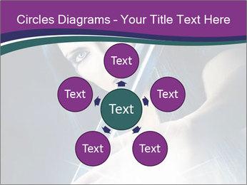 Brunette woman PowerPoint Template - Slide 78
