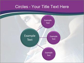 Brunette woman PowerPoint Template - Slide 79