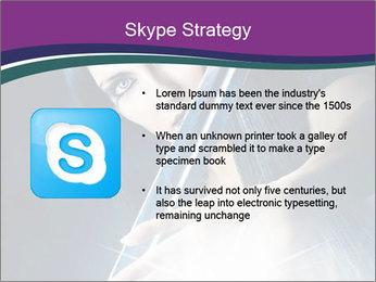 Brunette woman PowerPoint Template - Slide 8