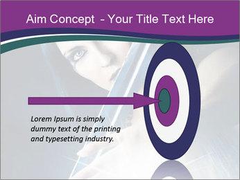 Brunette woman PowerPoint Template - Slide 83